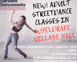 NEW ADULT STREETDANCE CLASSES IN WHELDRAKE!